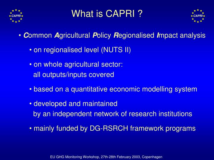 What is capri