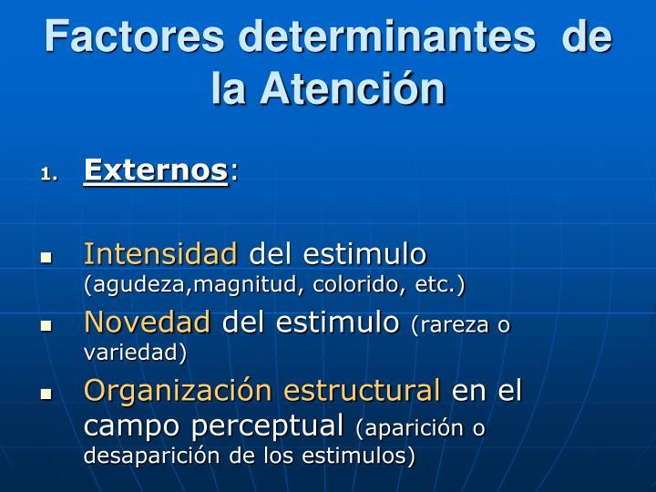 Factores determinantes  de la Atención