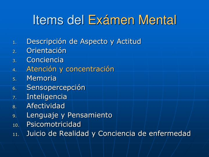 Items del ex men mental