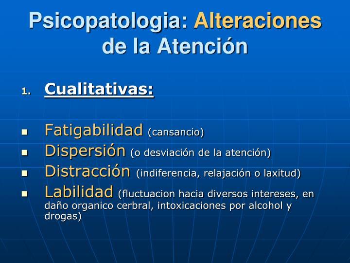 Psicopatologia: