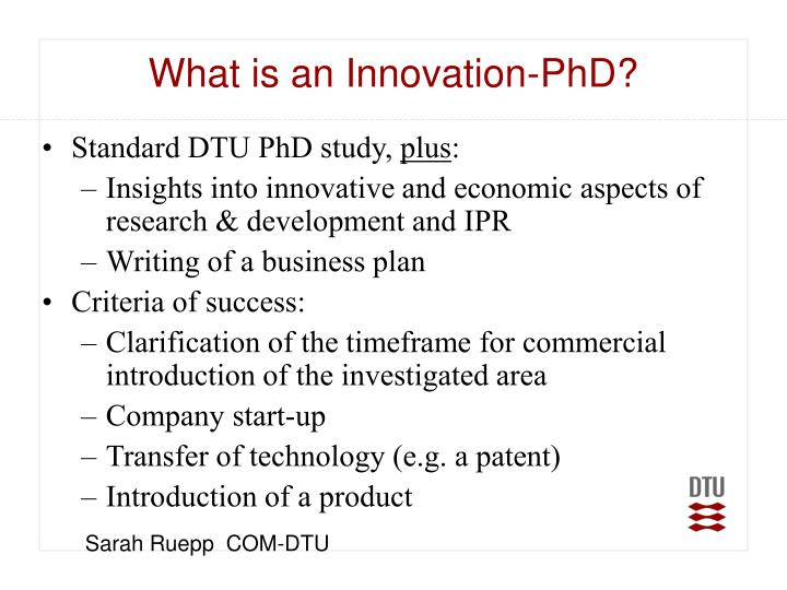 What is an Innovation-PhD?