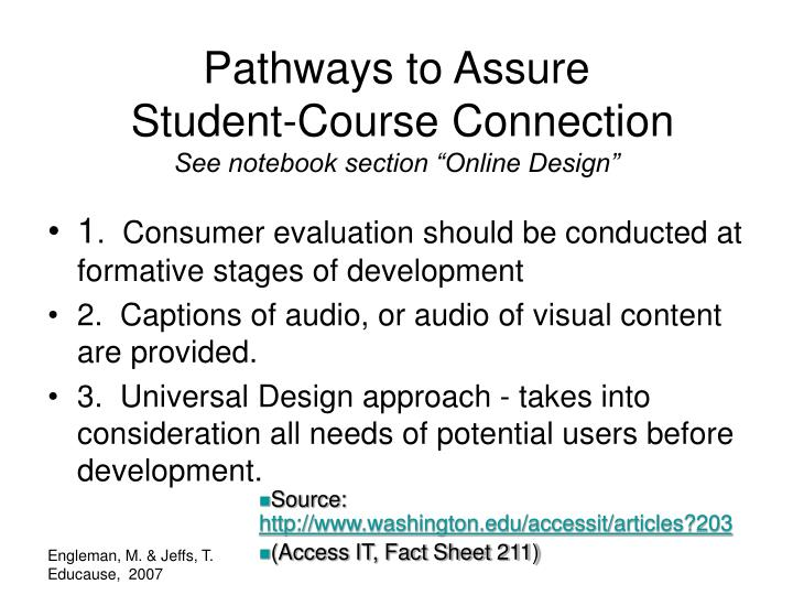 Pathways to Assure