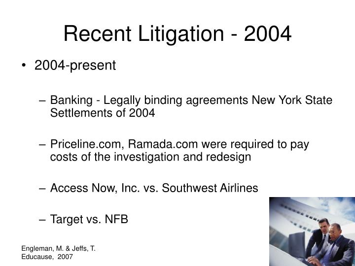 Recent Litigation - 2004