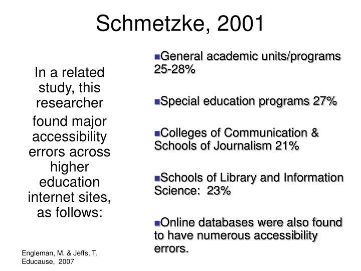Schmetzke, 2001