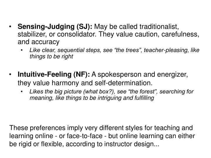 Sensing-Judging (SJ):