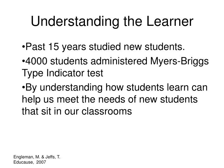 Understanding the Learner