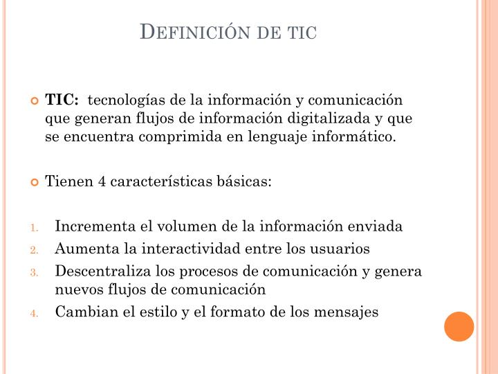 Definición de tic