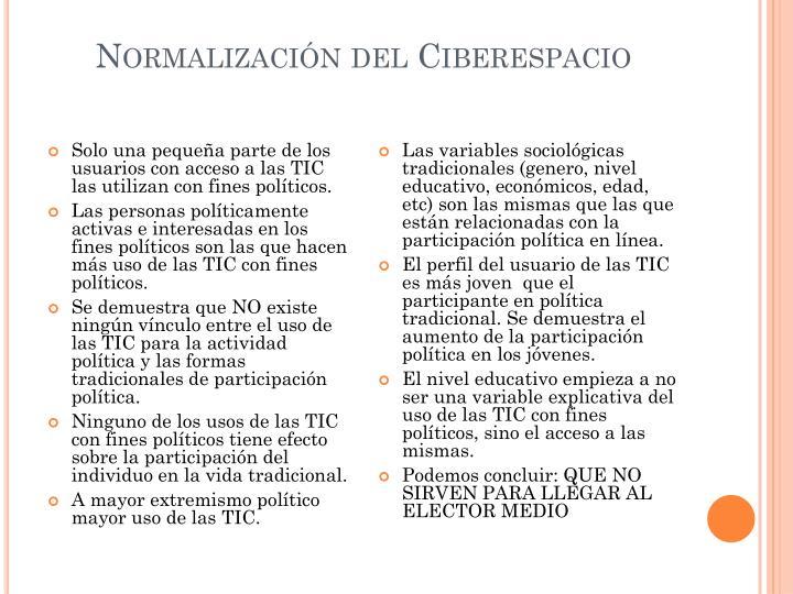 Normalización del Ciberespacio