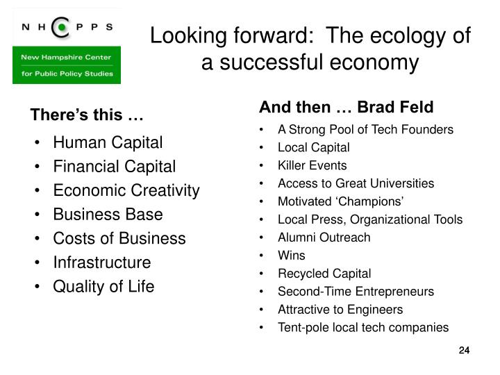 Looking forward:  The ecology of