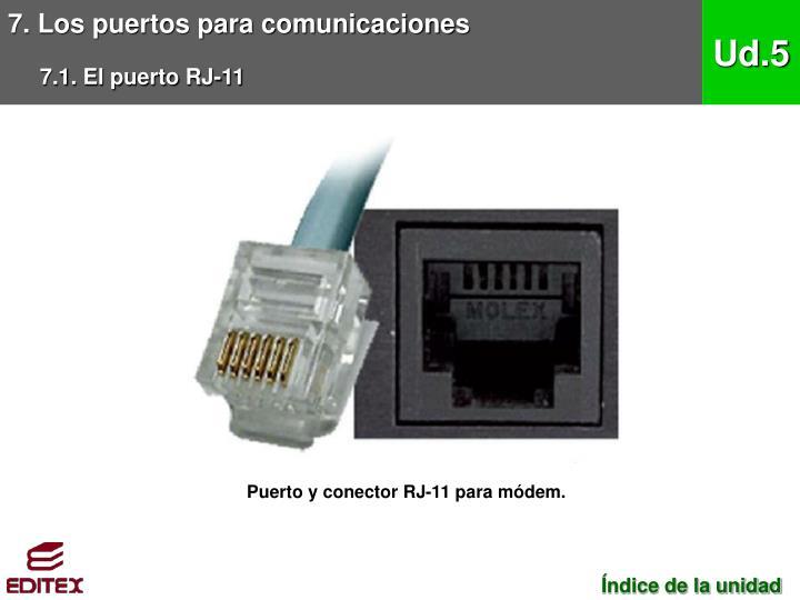 7. Los puertos para comunicaciones