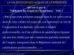 la validation des acquis de l experience10