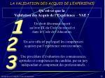 la validation des acquis de l experience11