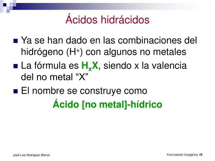 Ácidos hidrácidos