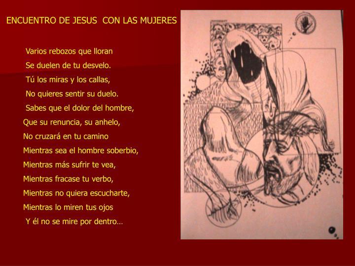 ENCUENTRO DE JESUS  CON LAS MUJERES
