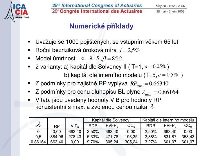 Numerické příklady