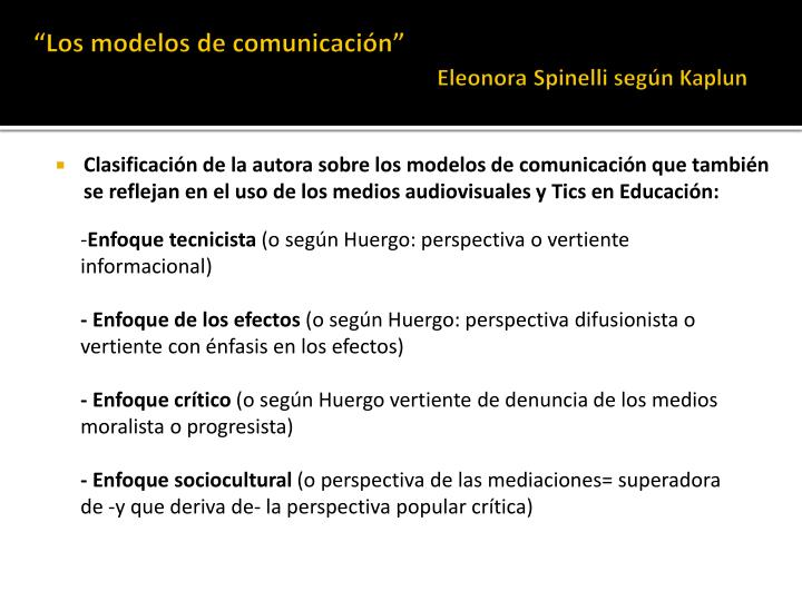 """""""Los modelos de comunicación"""""""