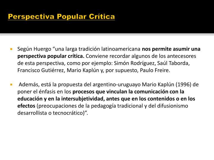 Perspectiva Popular Crítica