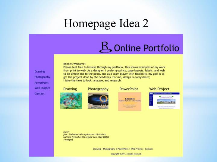 Homepage Idea 2
