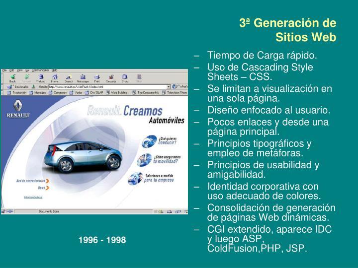 3ª Generación de Sitios Web