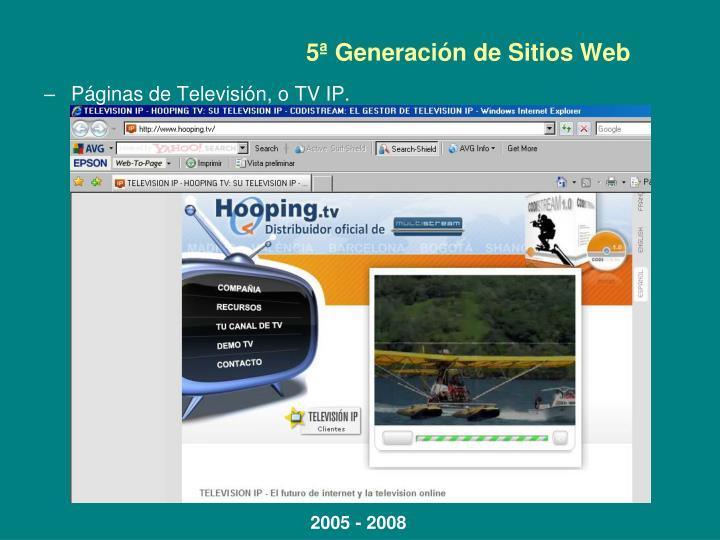 5ª Generación de Sitios Web