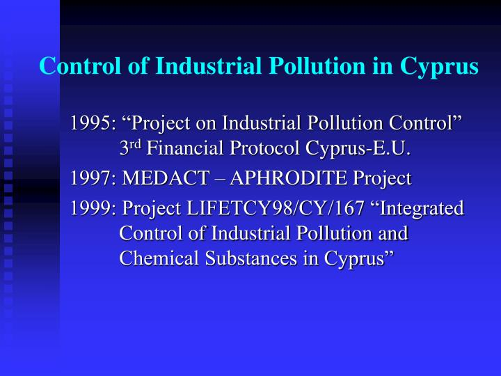 Control of industrial pollution in cyprus1