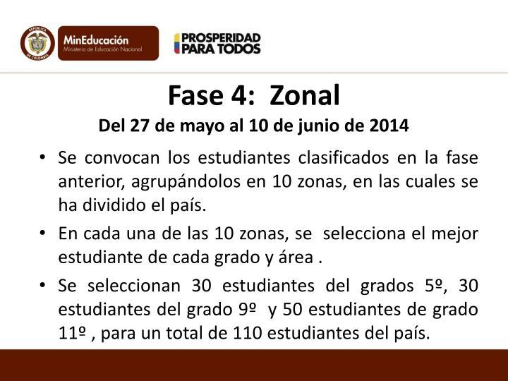 Fase 4:  Zonal
