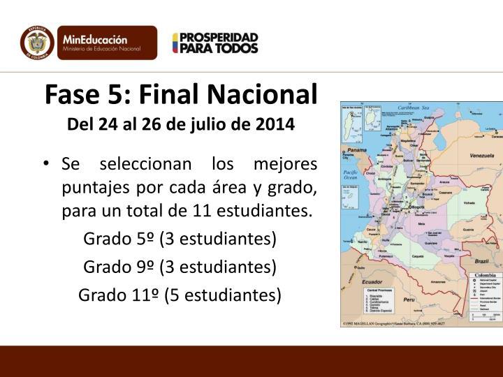 Fase 5: Final Nacional