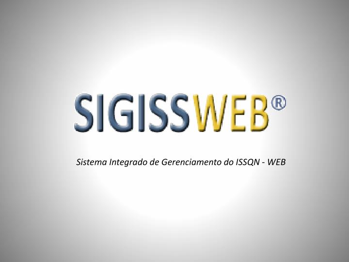 Sistema integrado de gerenciamento do issqn web