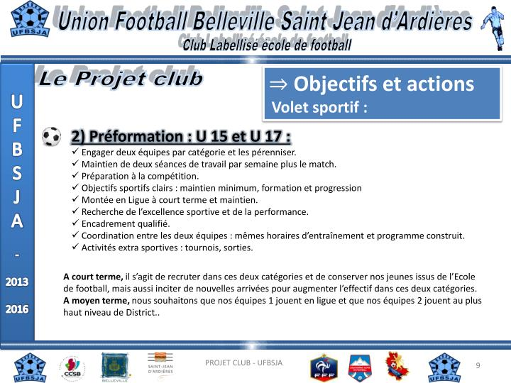 Union Football Belleville Saint Jean d'Ardières
