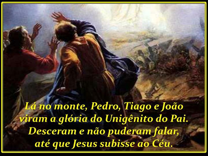 Lá no monte, Pedro, Tiago e João