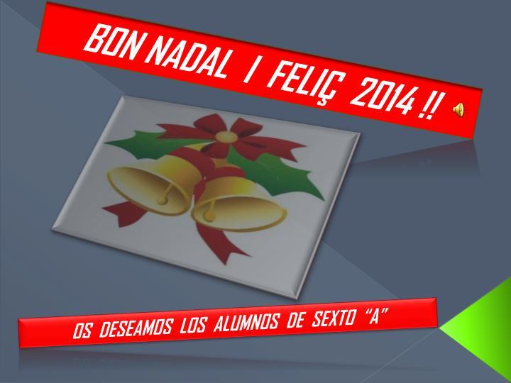 BON NADAL  I  FELIÇ  2014 !!