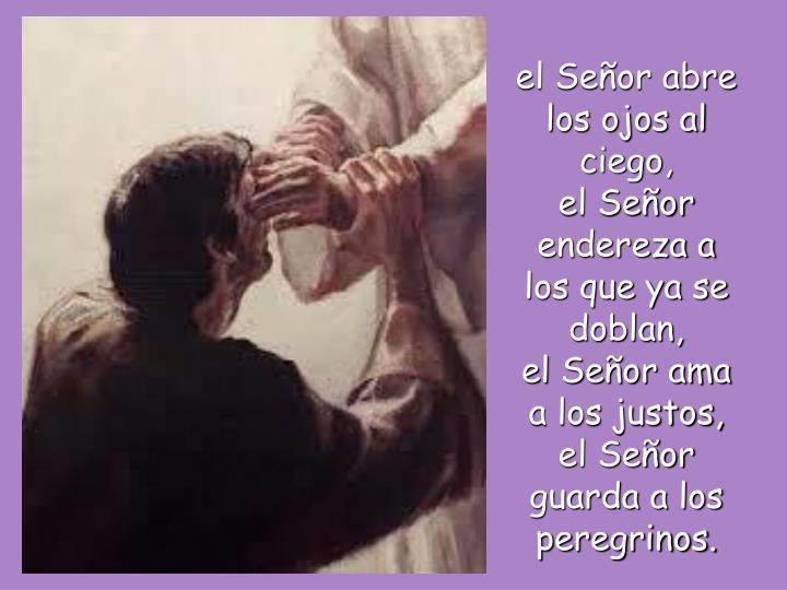 el Señor abre los ojos al ciego,