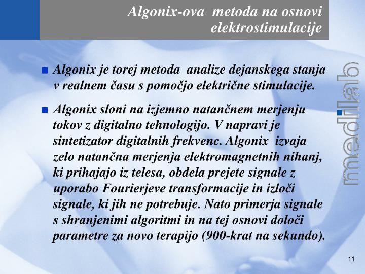 Algonix-ova  metoda na osnovi elektrostimulacije