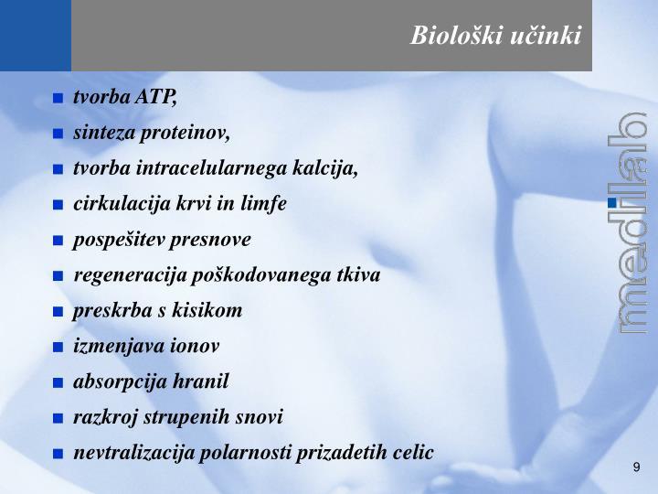 Biološki učinki