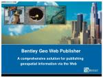 a comprehensive solution for publishing geospatial information via the web1