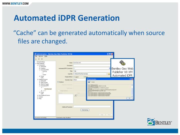 Automated iDPR Generation