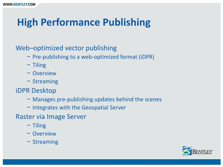 High Performance Publishing