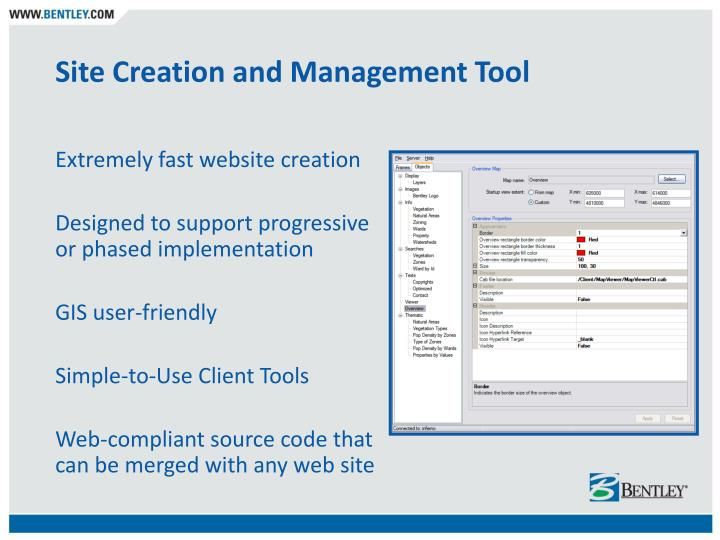 Site Creation and Management Tool