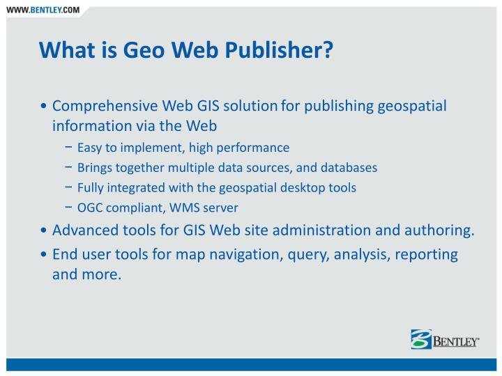What is Geo Web Publisher?