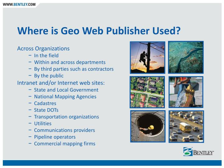 Where is Geo Web Publisher Used?