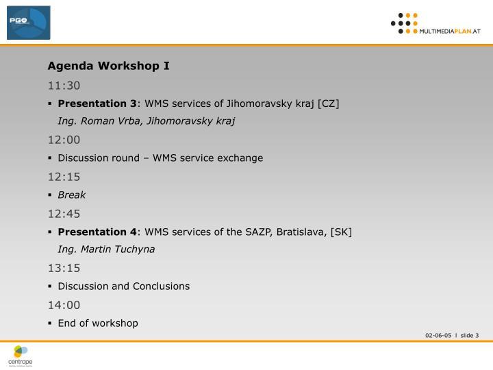 Agenda Workshop