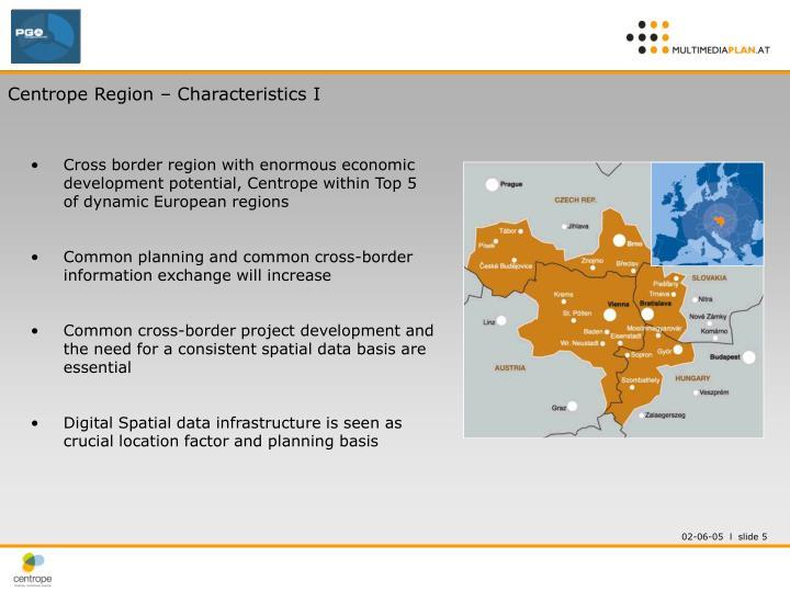Centrope Region – Characteristics I