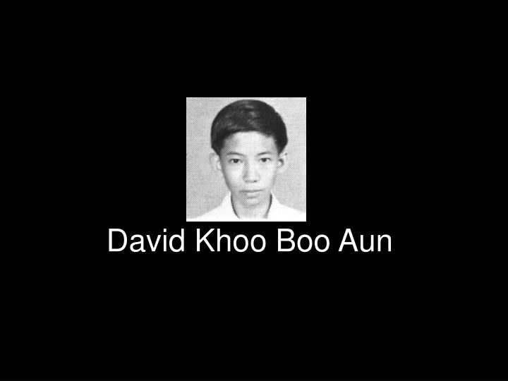 David Khoo Boo Aun