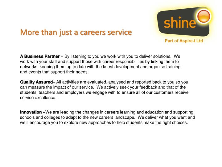More than just a careers service