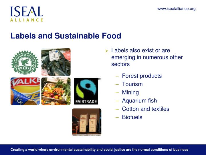 Labels and sustainable food