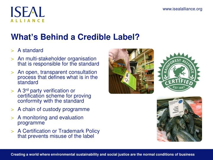 What s behind a credible label