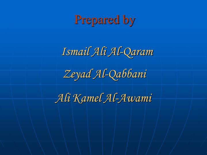 Prepared by