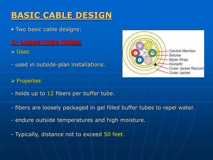 BASIC CABLE DESIGN