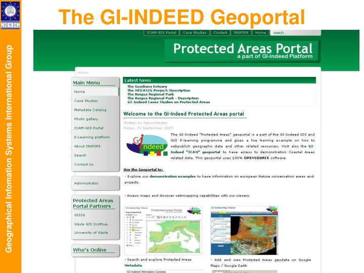 The GI-INDEED Geoportal