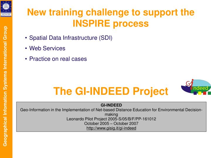 The GI-INDEED Project